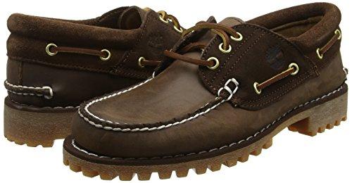 Timberland Men   s Classic 3-Eye Lug Mocassins  Brown  Potting Soil Saddleback Full Grain with Suede   8 5 UK 43 EU