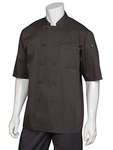 Chef Works JLCV-BLK Montreal Cool Vent Basic Chef Coat, Black, Small by Chef Works -