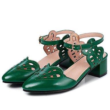 LvYuan Da donna Sandali Comoda PU (Poliuretano) Primavera Casual Comoda Bianco Nero Verde Piatto Green