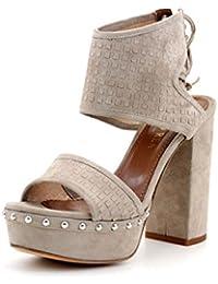 Giorgio Rea sandalias para mujeres hechas totalmente a mano en Italia con cuero de alta calidad tacón alto moda