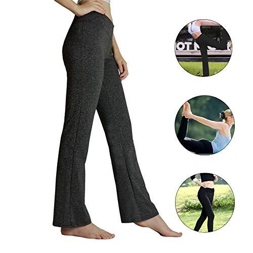 HETAIDA Damen Jogginghose, schnell trocknende Sporthose mit versteckten Taschen, mittlhohe Taille stilvolle freizeitliche Yogahose für Fitness, Outdoor-Sport und als Alltagskleidung (Dark Gray, XL)