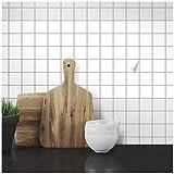 Wandkings Fliesenaufkleber - Wähle eine Farbe & Größe - Weiß Seidenmatt - 5 x 5 cm - 100 Stück für Fliesen in Küche, Bad & mehr