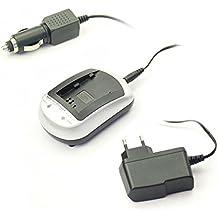subtel® Cargador UC-90 para Olympus Li-90B, Li-92B (Stylus SH-1, SH-2, SH-50, SH-60, SP-100EE, TOUGH TG-2, TG-3, TG-4, SH-2, XZ-2, TG-1, TG-5, TG-Tracker) - incl. fuente alimentación + cargador de coche - cargador corriente, cargador automóvil, cargador bateria cámara