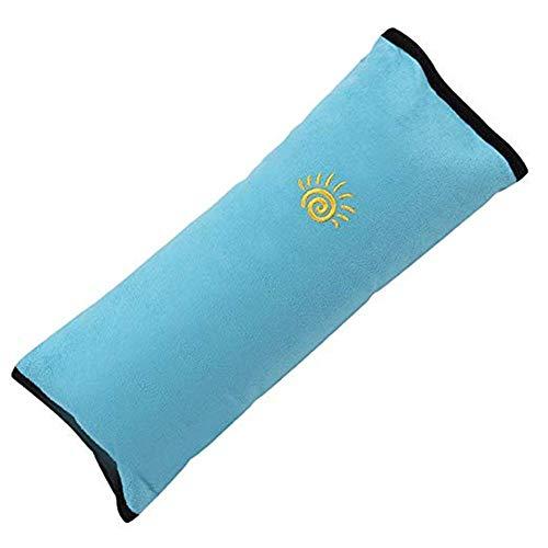 Haodou Schlafkissen Nackenstütze für Kinder Auto Sicherheit Gürtel Kissen Schulterpolster Sicherheitsgurt Autositz Kopfkissen Gürtel Pillow Schulterschutz für Auto Kinder Baby Kind (Blau)