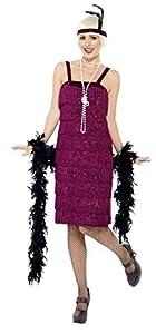 Smiffys Disfraz de chica joven jazz años 20, rojo, con vestido y adorno para el pelo , Modelos/colores Surtidos, 1 Unidad