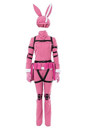 Karnestore Sword Art Online Alternative - Gun Gale Online LLENN Outfit Cosplay Kostüm Pink Damen S