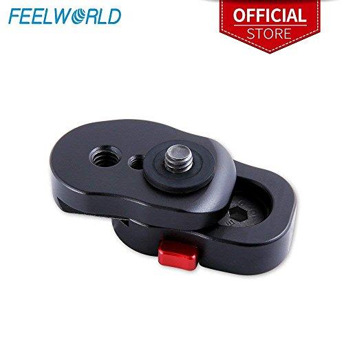 Feelworld Quick Release Platte für 3,5 5 7 Zoll DSLR Kamera Feld Video Monitor Magic Arm mit 1/4 Zoll Schraube Kompatibel mit Feelworld FW450 F570 F6 T7 FH7 T756 FW703 FW759 Feld Videos