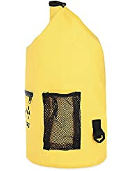 SHUFAGN,Equipaje Impermeable y de Secado Multifuncional con natación con Cremallera, a la Deriva y a la Deriva Recorrido en Camping(Color:Amarillo,Size:10L)