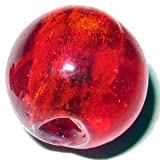 10Stück 12mm Silber Folie rund Glas Lampwork-Perlen-Rot-A4171