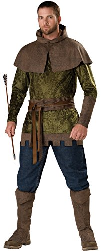 Robin Adult Kostüm Xl Hood - Herren 5Stück Mittelalter Robin Hood Archer Halloween Tag Woche Fancy Kleid Kostüm Outfit M-XL