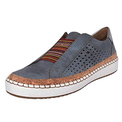 Scarpe Kinlene Sneaker A Collo Basso Donna Scarpe da Donna Lacci Vendita Sneakers Piatte con Punta Arrotondata E Cava Casual