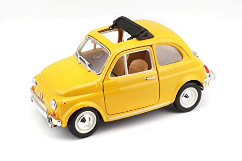 Bburago 15622099 - Bijoux Fiat 500 L (1968), scala 1:24, colori assortiti