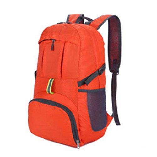 TigerFighting Zaino Outdoor Ultra Lightweight Packable Viaggio Zaino Pratico Pieghevole Escursionismo Daypack Arancia