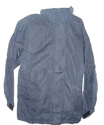 Ladies Dark Blue Lined Waterproof Jacket with Hood Size 12