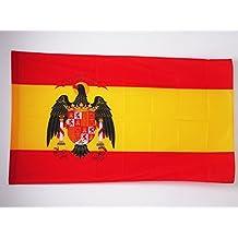 BANDERA de ESPAÑA 1977-1981 150x90cm para palo - BANDERA ESPAÑOLA CON AGUILA 90 x 150 cm - AZ FLAG