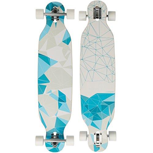 Ultrasport Downhill Longboard / Skateboard für City- und Park-Cruising – Komplettboard, 103 cm, ideales Skateboard für Downhill, auch für Carving und Cruising – belastbar bis 100 kg, Geometric