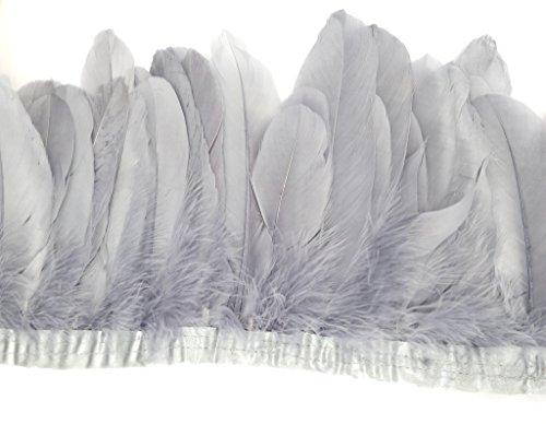 ERGEOB Ente Feder Stoffstreifen 2 meter - Ideen für die Bekleidung, Kostüme, Hüte.. (Kostüm Ideen Aus)