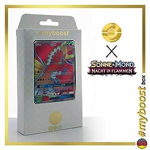 Ho-oh-GX 131/147 Full Art - #myboost X Sonne & Mond 3 Nacht in Flammen - Box de 10 Cartas Pokémon Aleman