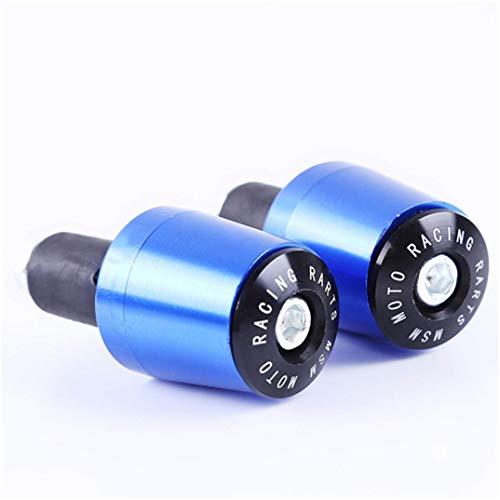Fliyeong 1 Paar Motorrad Lenker Stecker Fahrrad Lenker Griffe Kappe Einfache Bunte Lenker Endkappen, blau langlebig und nützlich