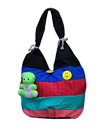 dca90c1e60e7 Atorakushon® Multipurpose Carrying Case Women s Elegance Ethnic Cotton with small  teddy Style Handbag Clutches ...
