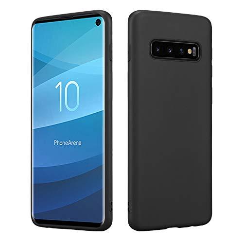 HSP Matt Schwarze Hülle kompatibel mit Samsung Galaxy S10 | Premium TPU (Silikon) Case | Geeignet für Induktives Laden | Passgenaue, dünne Schutzhülle