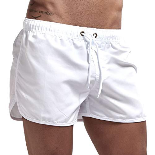 sunnymi  Herren Hosen, Frühjahr und Sommer Spleißen Badehosen und Beach Surfing Shorts - Königin Blatt Camouflage