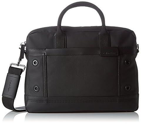 Calvin Klein EZR4 Laptop Bag, Sac Homme, Noir (Black), 8x30x39 cm