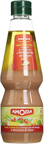 Amora Vinaigrette Huile d'Olive Vinaigre Vin Rouge Moutarde 380 ml - Lot de 3