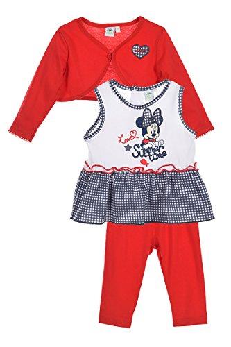 Set vestitino minnie (18 mesi, rosso)