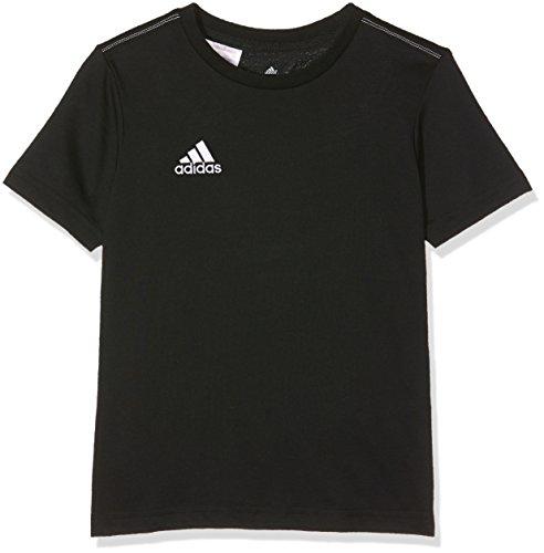 adidas Kinder Fan-t-shirt/Polo Coref tee y, schwarz/Weiß, 128, S22388 (Adidas Gesticktes Logo-t-shirt)