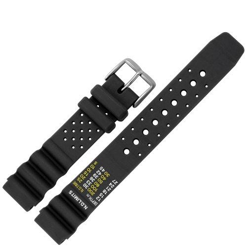 MARBURGER 9671810000120 Uhrenarmband 18mm Kunststoff Schwarz -