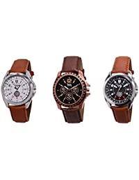 Watch Me Gift Combo Set Of Analog Watches For Men And Boys AWC-008-AWC-009-AWC-012 AWC-008-AWC-009-AWC-012omtbg