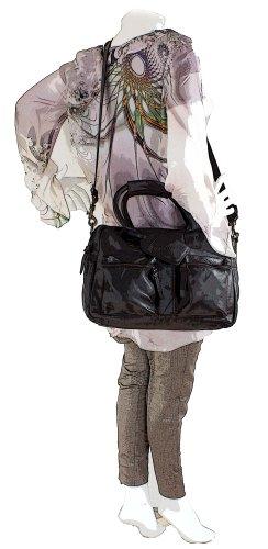 COWBOYSBAG The Bag small - sac en cuir unisexe (37x28x14 cm) Gris (Bleu Gris)