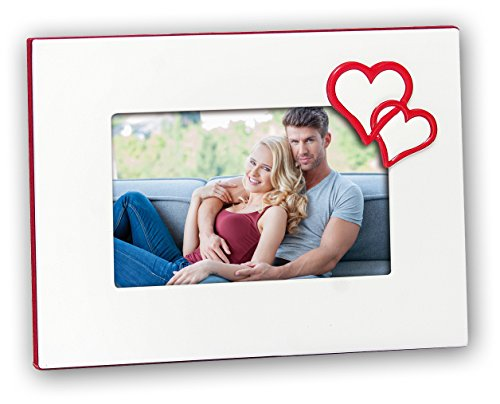 zep-srl-ar846-collection-love-vania-cadre-photo-metal-blanc-rouge-10-x-15-cm