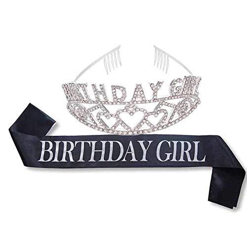 Brief Geburtstag Mädchen Schärpe und Tiara-Krone set für mädchen kind erwachsene frauen. 40th party dekoration