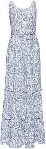 FIND Women's Ditsy Tiered Maxi kleid, Blau (Blue), XXX-Large