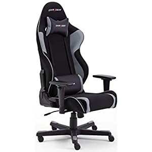 Robas Lund 62562NG4 DX Racer R2 Gaming-/ Büro-/ Schreibtischstuhl, 64 x 125 x 68 cm, schwarz/grau