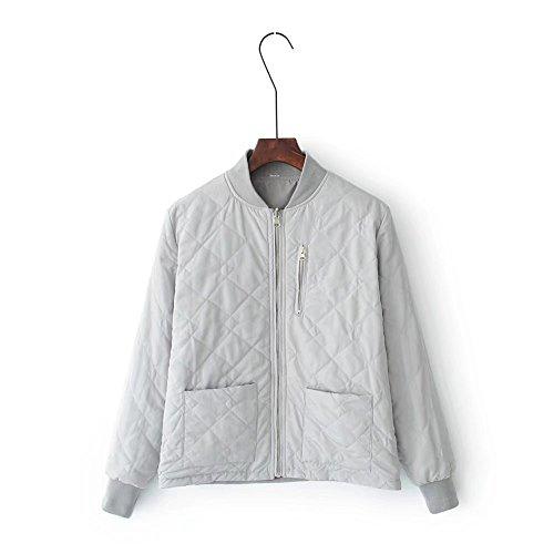 MEI&S Womens court régulièrement Down Jacket Coat en coton épais Grey