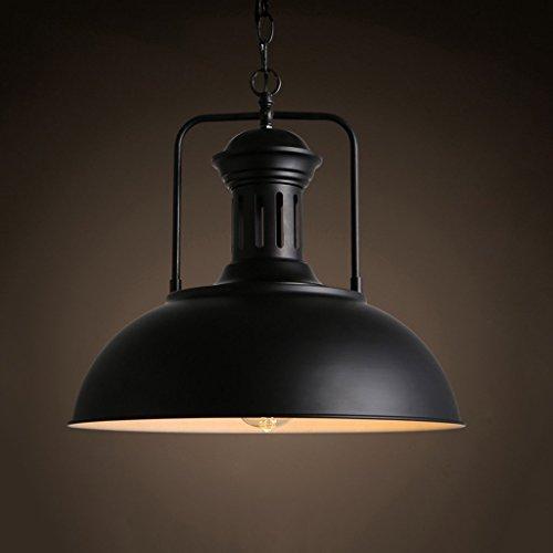 GAOYU Amerikanischer Art-Weinlese-Metallleuchter, Retro- schwarze hängende Lichter, Stab-Gaststätte-dekorative Beleuchtung (Licht 9 Kronleuchter Schwarz)