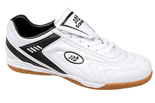 gibra , Chaussures pour homme spécial sports en salle blanc/noir