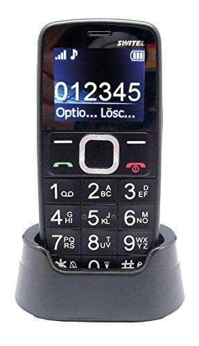 Switel M170Bravo Quad Band Téléphone portable avec grandes touches Noir