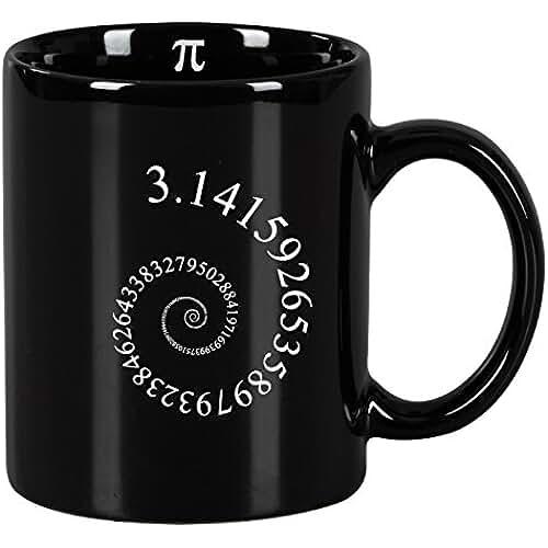 dia del orgullo friki Taza mug desayuno de cerámica negra 32 cl. Modelo Pi