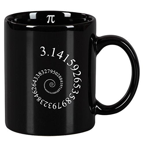 Taza mug desayuno de cerámica negra 32 cl. Modelo Pi