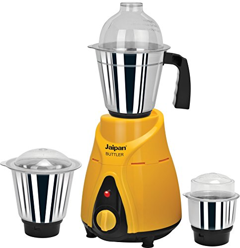 Jaipan JBU-05 750-Watts Buttler Mixer Grinder (Yellow/Black)  available at amazon for Rs.2246
