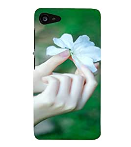 Printvisa White Flower Depicting Nature Back Case Cover for Lenovo ZUK Z2
