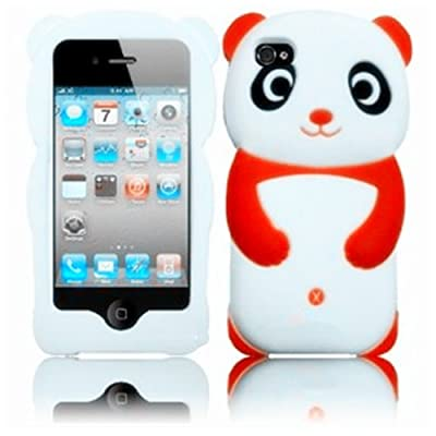 Gadget Zoo Cute 3D Panda Cover for iPhone 4 4G 4s Gel Silicone Stylish Case Skin from Gadget Zoo