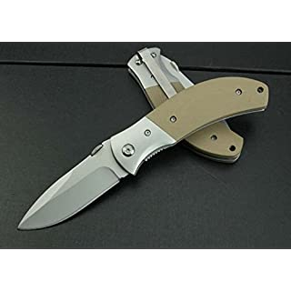 Amazona's presentz (Wüstensturm Sahara) - G10 Anti Rutsch Handle Scales, Liner Lock, Edelstahl Klappmesser Jagdmesser Überlebensmesser Taschenmesser Hunting Folding Knife