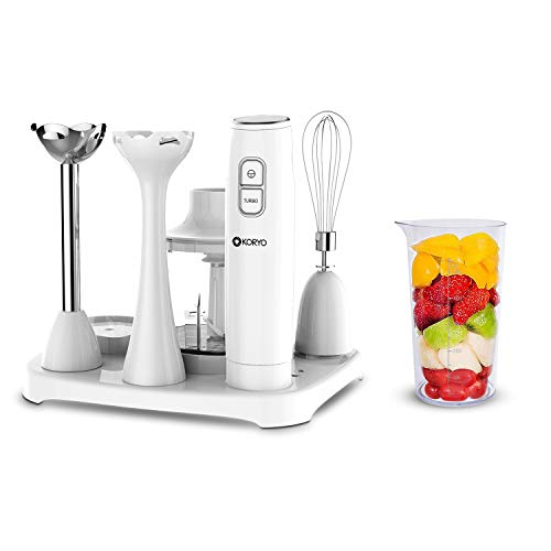 Koryo Multipurpose 6-in-1 Hand Blender KHB9567 600 Watts (White)