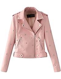 low priced 0ca3d d675b Amazon.it: giacca ecopelle - Rosa / Donna: Abbigliamento