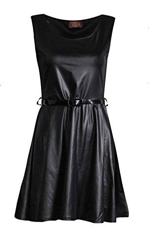Fast Fashion Damen Midi Kleid Promi Inspiriert Wetlook Flügelärmel Aus Schulter Und Lange Ärmel Skaterkleid